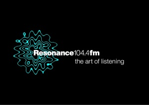 ResonanceFM Logo Black Background