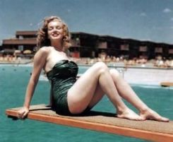 Marylin on a Diving Board
