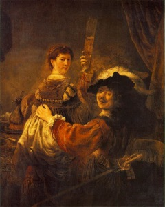 Rembrandt. Self-portrait with Saskia - 1635