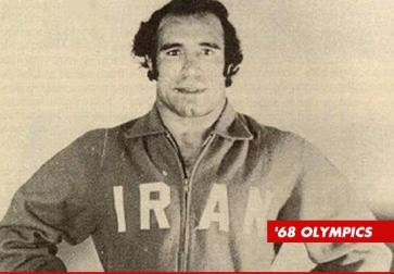 Looking earnest, representing Iran back in 68