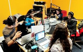The live on-air performance on Resonance104.4FM