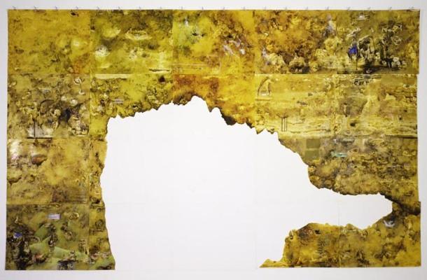 Eden – 1st Generation, 2005, Ink, oil on paper 223.5 x 355.6 cm