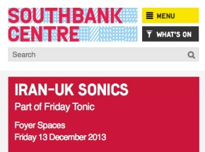 Call Out: Iran-UK Sonics Residency