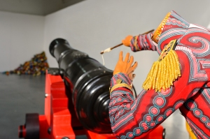 Life-Size Cannon Operated By Headless Figures Unveiled in London For The First Time