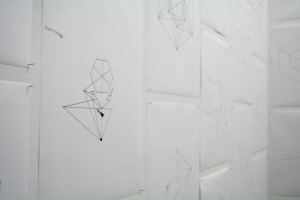 Metatron's Cube, 2012, 49 Drawings, 29,7 x 42 cm ea, India Ink on Paper (Detail)