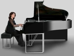 Nazanin Aghakhani at the piano
