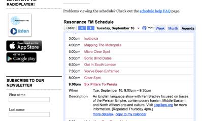 six pillars schedule