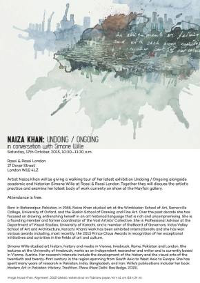 This Week's Six Pillars – Naiza Khan at Rossi and Rossi Gallery