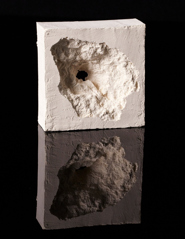 Painting Of A Taliban Bullet Hole. 2011 Edition of 10 plus 4 artists' proofs. Industrial floor paint. 9.5x9.5x3.5cm